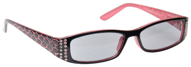 Sun Reader Reading Sunglasses in Pink Black by UV Reader