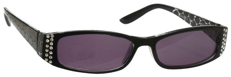 UV Reader Sun Readers Reading Glasses Womens Designer Style Black Diamonte