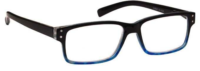 Black & Blue Reading Glasses Mens Womens UVR045BLKBL
