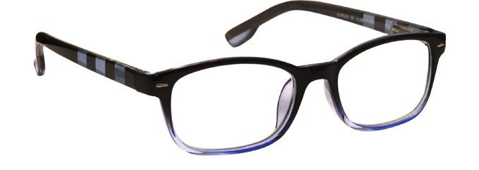 Black Blue Stripe Reading Glasses Mens Womens R40-3