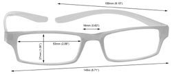 Reading Glasses Dimensions R20