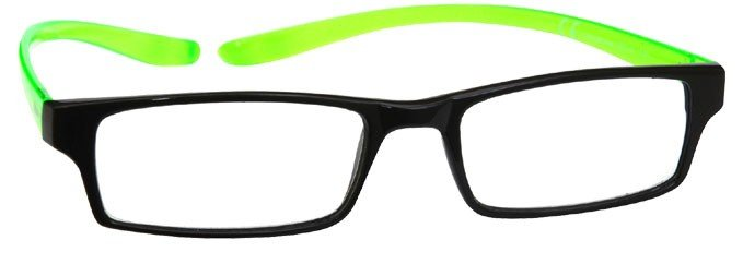 Black Bright Green Neck Specs Reading Glasses R20-6