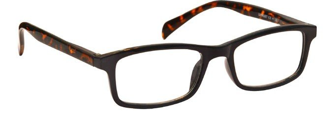 Black Brown Tortoiseshell Sides Reading Glasses UVR087