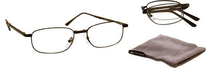 black fold up reading glasses uvfr034