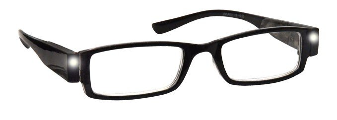 Black Illuminated LED Light Readers Reading Glasses L1-1