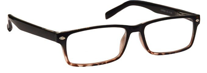 Black Light Brown Tortoiseshell Reading Glasses UVR075