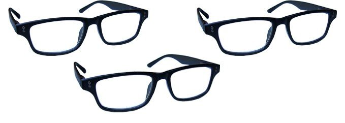 Matt Black Reading Glasses Value 3 Pack RRR33-1