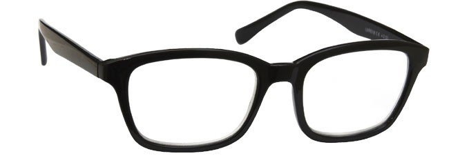 Black Reading Glasses Large Mens Womens R18-1