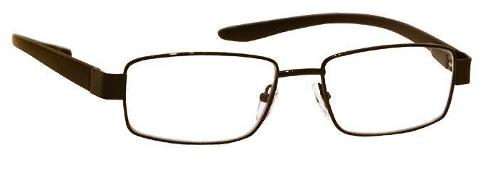 black reading glasses uvr036
