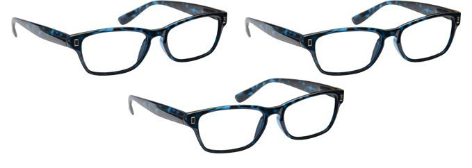 Blue Tortoiseshell Reading Glasses 3 Pack UVR3PK005