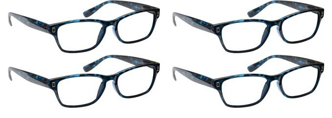 Blue Tortoiseshell Reading Glasses 4 Pack UVR4PK005