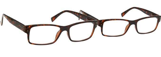 Brown Tortoiseshell Reading Glasses 2 Pack UVR2PK012