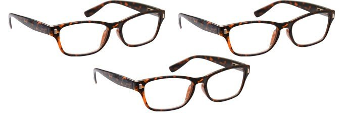 Brown Tortoiseshell Reading Glasses 3 Pack UVR3PK010