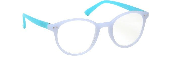 Light Blue Matt Reading Glasses Womens Ladies R25-3