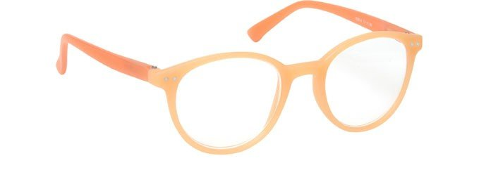 Light Orange Matt Finish Reading Glasses Womens Ladies R25-X