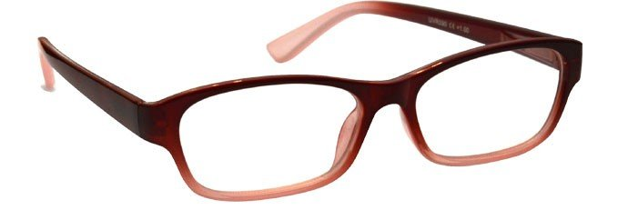 Maroon Front Faded Sides Reading Glasses UVR090