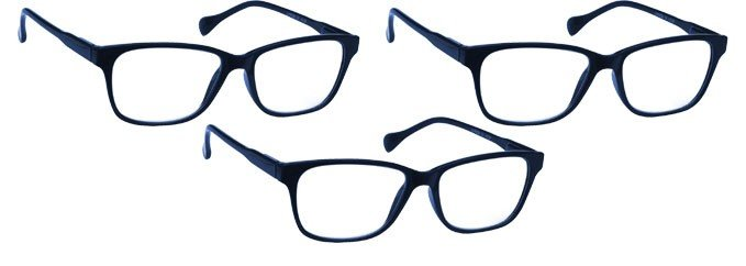 Navy Blue Reading Glasses 3 Pack UVR3PK027