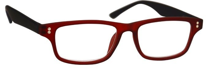 Rubberized Red Black Myopia Near Sighted Distance Glasses Mens Womens UVMR033
