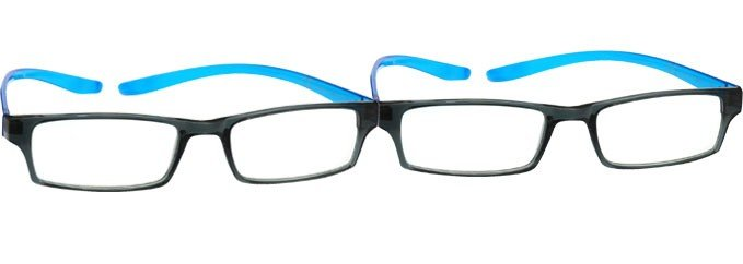 Neck Specs Black Blue Reading Glasses 2 Pack UVR2PK020