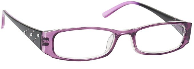 Purple Faux Pearls Diamonte Reading Glasses Womens Ladies R74-5