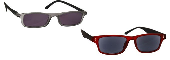 d2ccd61ea93 UV Sun Reader Rubberized Grey Red 2 Pack UVSR2PK017 033