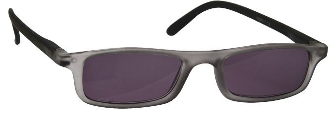 Rubberized Matt Grey Black Sun Reading Glasses UVSR017