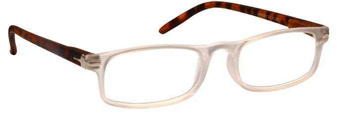 Matt Transparent Brown Reading Glasses UVR079CRBTT